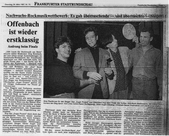 Frankfurter Stadtrundschau, 24.03.1987
