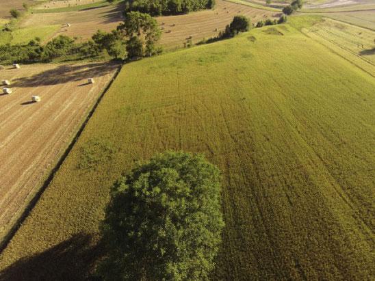 Vue aérienne drone Italie