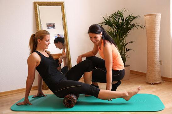 Sportphysiotherapie mit Black Roll Stuttgart