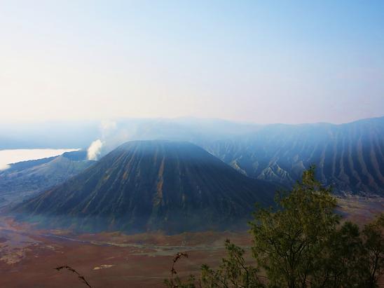 Blick auf den Vulkan Bromo auf Java