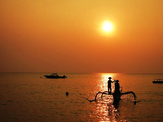 Fischer im Norden von Lombok