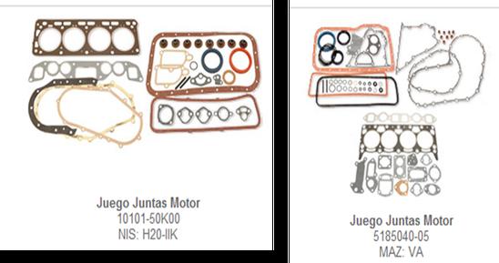 juego empaques motor motores partes refacciones accesorios montacargas mexico