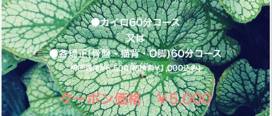 松崎カイロ 初回クーポン¥4000