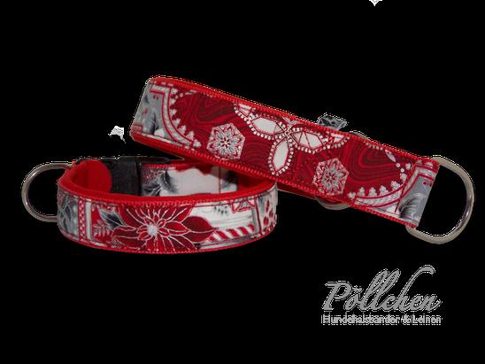 weihnachtliches Halsband extrabreit aus Nylon - auch in Übergrößen XXL und Zugstopp bzw. Schlupfhalsband