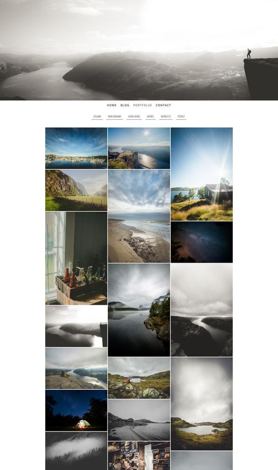 Cet exemple montre la vue verticale avec 3 colonnes de photos. Amusez-vous ! Testez les différentes combinaisons !
