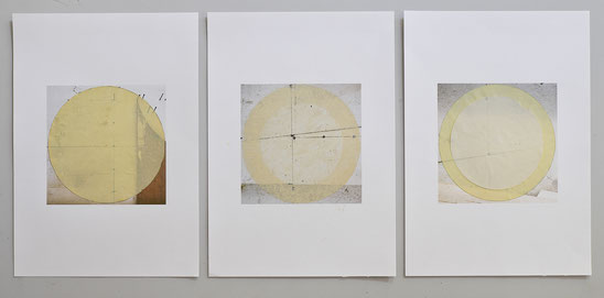 Collage, Oelfarbe, Fotografie