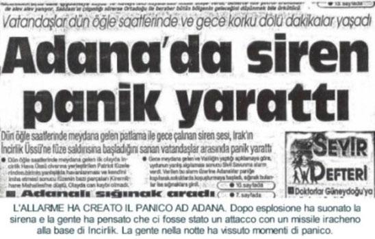 Notizia sul giornale locale