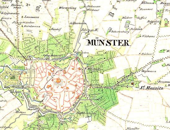 Münster um 1840