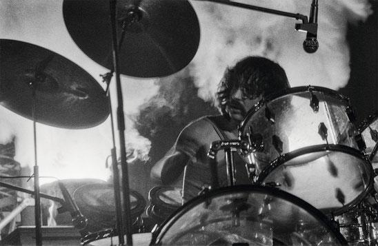 Nick Mason beim Konzert von Pink Floyd 1972 in der Böblinger Sporthalle. Foto: Martin Schultz