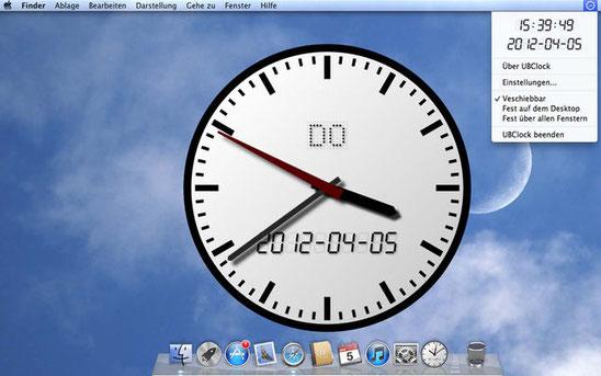 UBClock auf einem MacDesktop