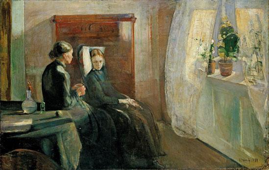 エドヴァンド・ムンク「春」(1889年)