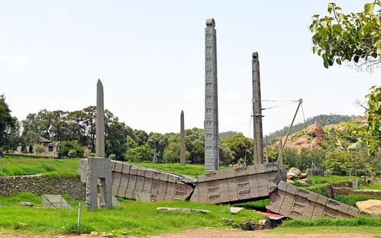 世界遺産「アクスム(エチオピア)」のステッレ群