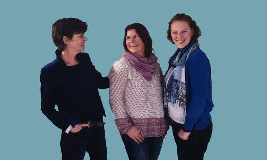 Inge Lindenberg, Evelyn Werner und  Maike Neelmeier (von links)