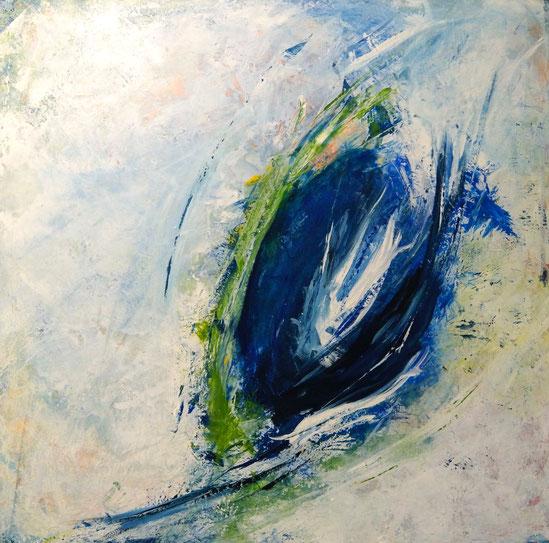 Blue Virgin | Acryl | 100 x 100 cm