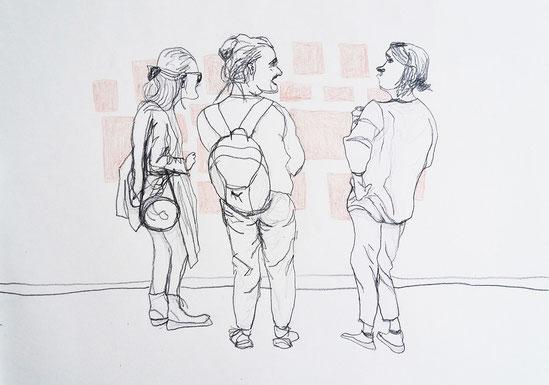 Nina Gross Zeichnung Kunst Schnute