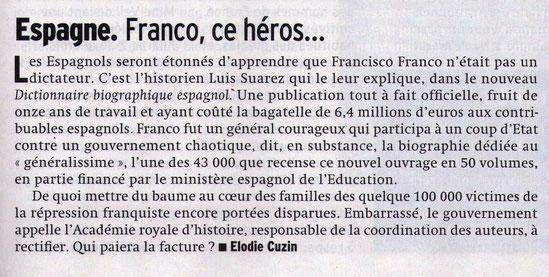Article paru dans le journal Marianne n° 737 du 4 au 10 juin 2011
