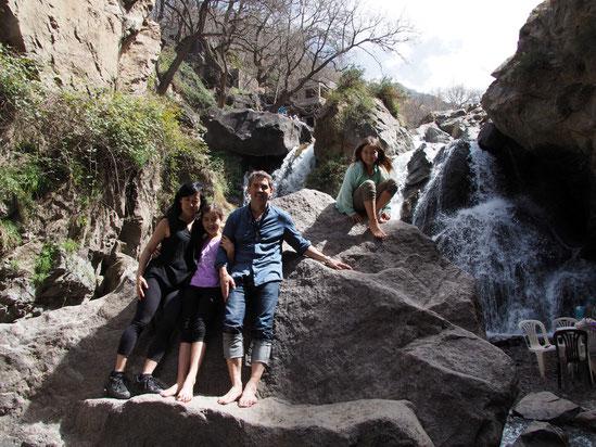 Imlil, waterval, Cascade, Marokko