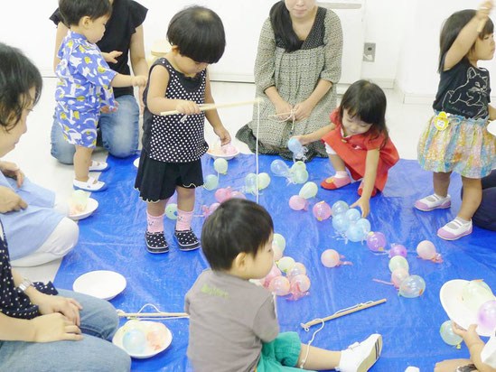 幼児教室夏祭り・魚釣り