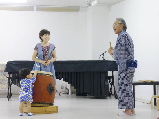 幼児教室夏祭り・和太鼓体験