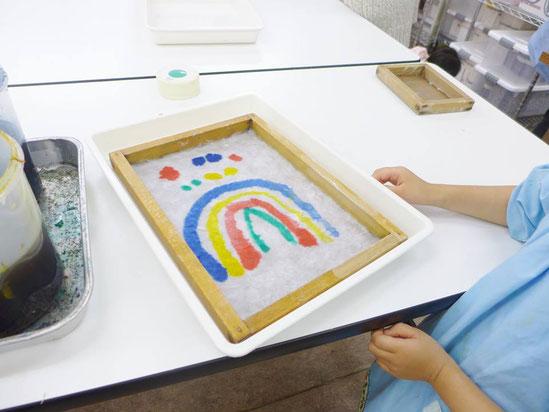 幼児教室紙漉き・絵付け