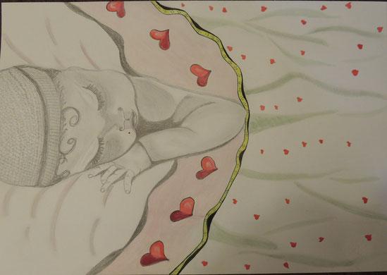 """""""Desiderio""""_matita e acquerello su foglio da disegno_mis. 33x48_2015"""