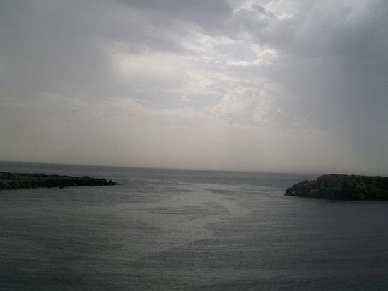 ( Il mare e il cielo,fotografati nello stesso giorno in cui davo voce ai miei pensieri)