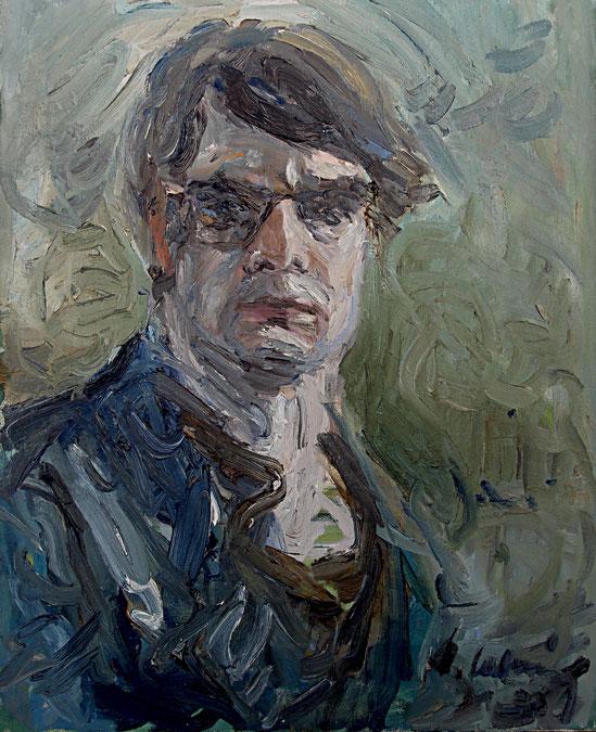 Selbstportrait   1963, Öl auf LW, 50 cm x 65 cm