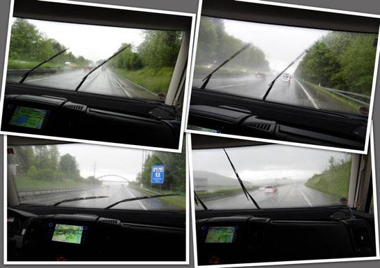 Im Dauerregen nach Annecy