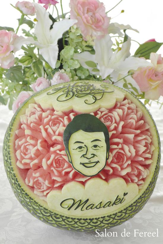 カービング スイカ メロン 教室 フルーツ 彫刻 大阪 オーダー 習い事 誕生日プレゼント 結婚式 カッティング ソープ 似顔絵