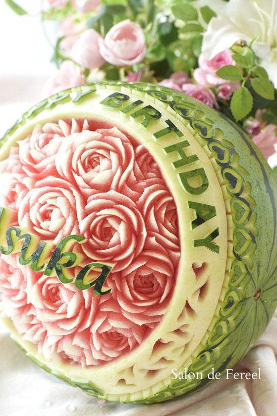 カービング スイカ 教室 フルーツ 彫刻 大阪 オーダー 習い事 誕生日プレゼント 結婚式