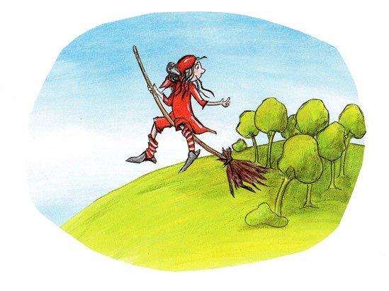 Eine kleine Hexe will eine gute Hexe werden,  Ottfried Preussler