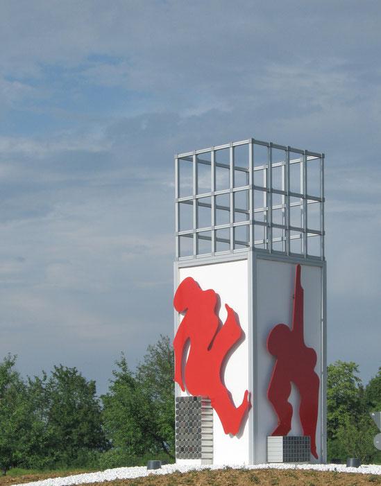 Corporate Art / Kunst für Unternehmen - SAPRI Skulpturen, Kreisel Filderstadt