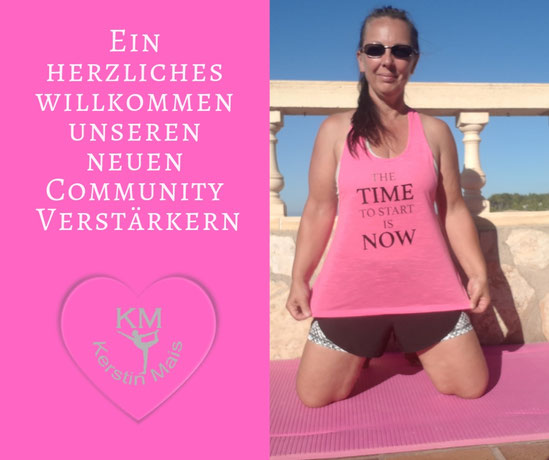 "Kerstin mit pinkem Shirt und der Aufschrift ""The time to start is now!"""