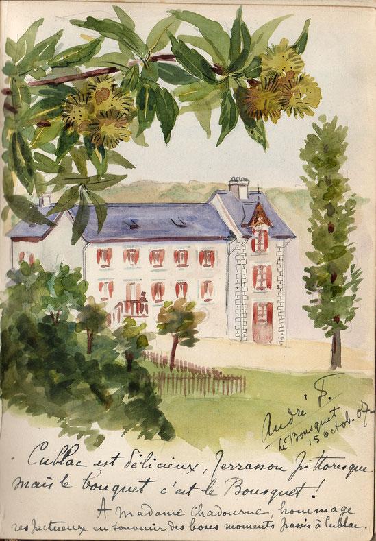 La maison de campagne des Chadourne, Le Bousquet à Cublac