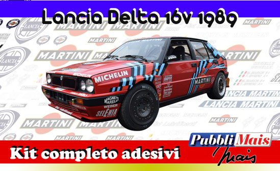 price cost kit complete stickers decals sponsor lancia delta 16v red martini online shop pubblimais sanremo 1989 biasion