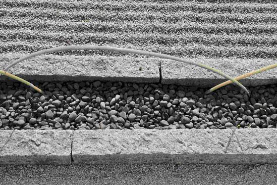 Rand des Zen-Gartens