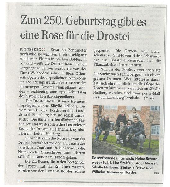 Hamburger Abendblatt. Zum Vergrößern aufs Bild klicken.