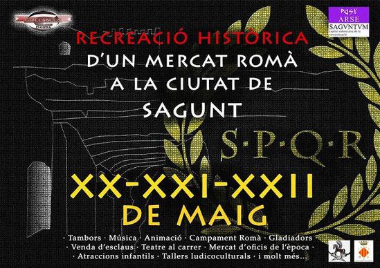 Programa del Mercado Romano en Sagunto