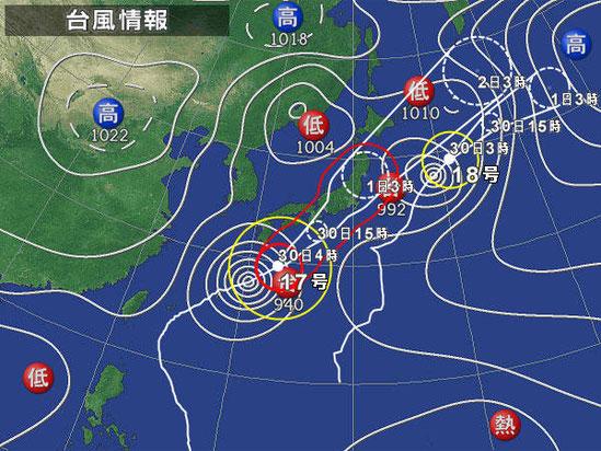 マット総合管理有限会社 ブログ 大沼湖畔 天気図
