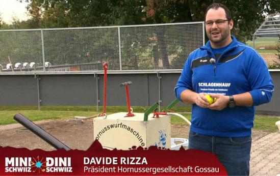 Davide Rizza gab spannende Informationen über das Horussen. Bild: Video SRF