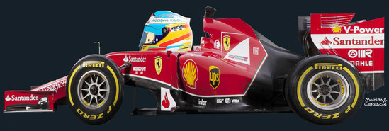 Fernando Alonso by Muneta & Cerracín - Scuderia Ferrari Ferrari F14 T