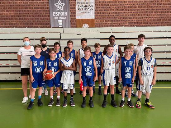 Victoire pour les U13 Gars BMB, 54 à 51 face au Gars du Reun Basket(28/08/2021)