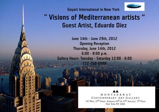 Cartel de la exposición en la que participo en New York.