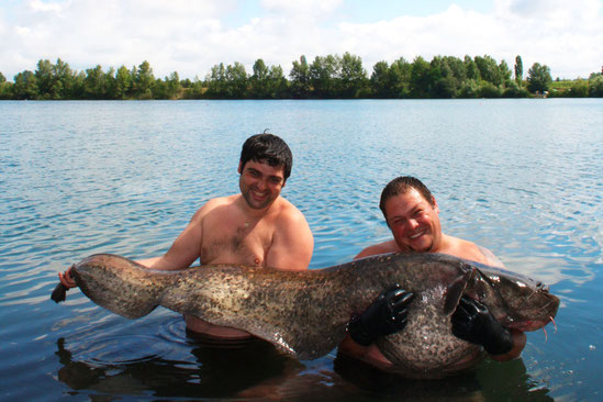 pêche du silure en lac privé