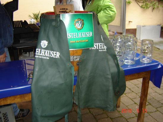 Distelhäuser Bier beim Jubiläum von Jakob Kloos