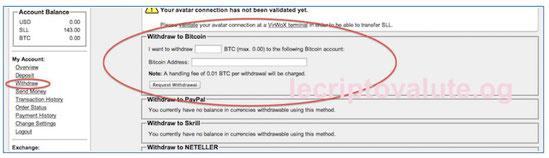 virvox come prelevare bitcoin