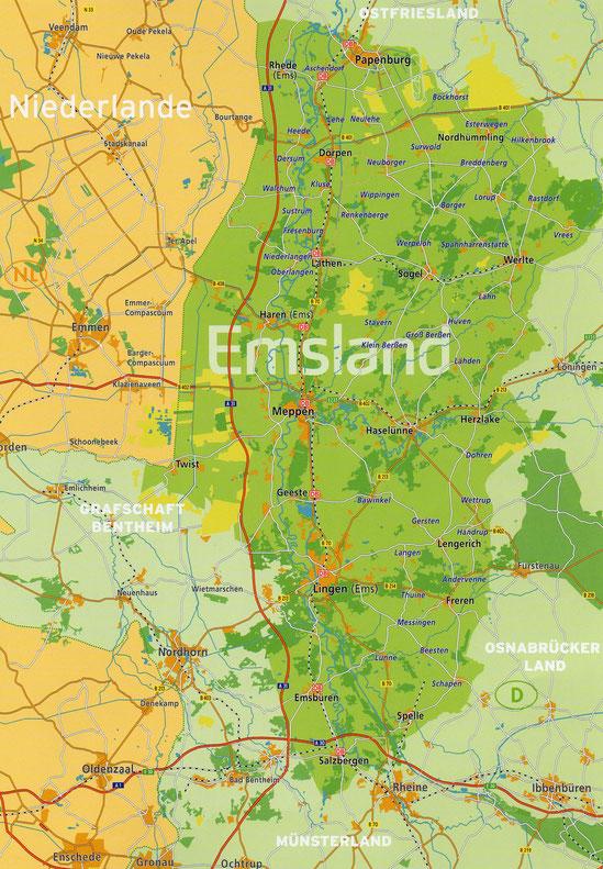 emsland karte Autotour durchs Emsland nach Bourtange NL   Manfred Rosga