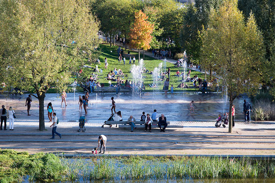 Parc Martin Luther King in Paris, France - Photo: Paysagiste atelier Jacqueline Osty et associés