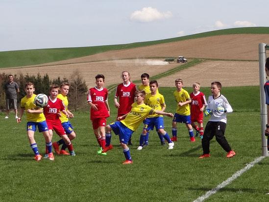 Die D-Junioren präsentierten sich als Team und gewannen verdient.