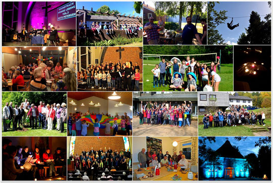 Collage: Vielfältig und lebendig - so ist unsere Gemeinde!